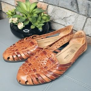 Basic Edition Vintage Leather Woven Sandals Brazil